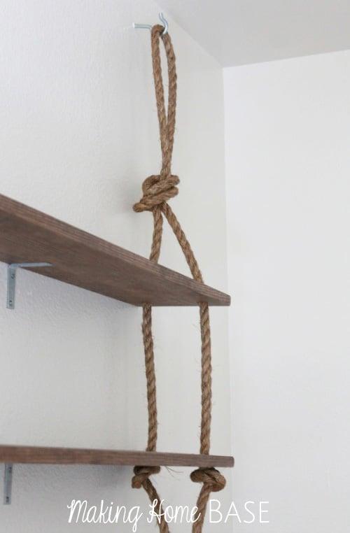 Rope Shelves Tutorial