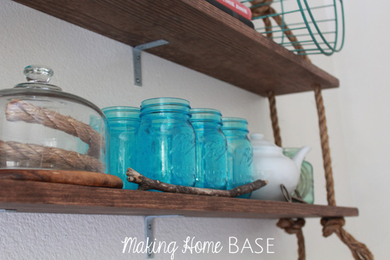 Rustic Dining Room Shelves