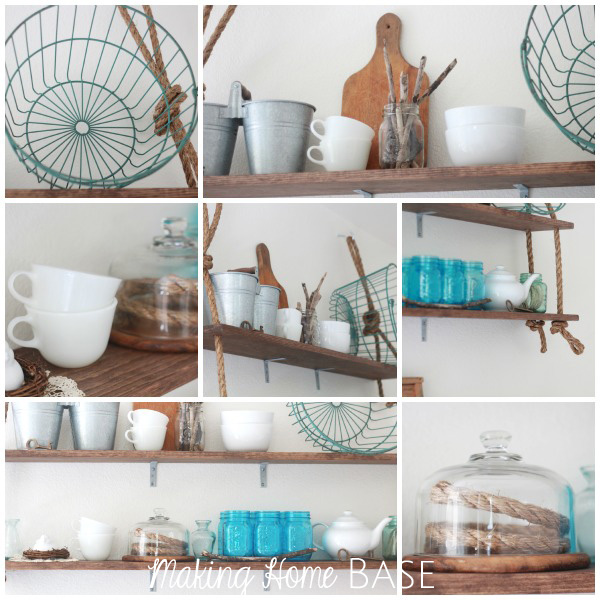 DIY Wall Shelving with Rustic DetailsDIY Wall Shelving with Rustic Details