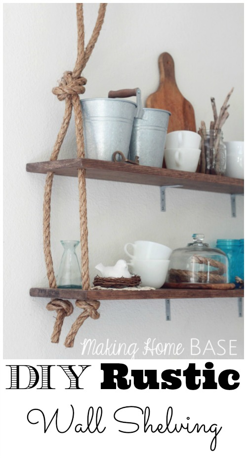 DIY Rustic Wall Shelves