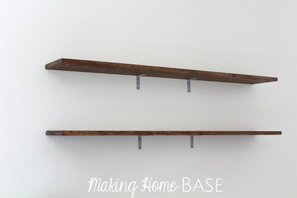 wall shelving tutorials rustic shelves you can make yourself rh makinghomebase com making wall shelves kitchen menards making wall shelves out of pipes and wood