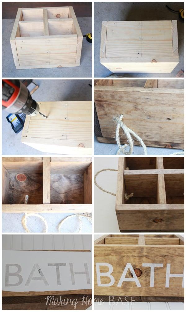 Wood Bath Caddy