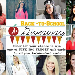 Back To School Giveaway: [5] $100 Target Gift Cards