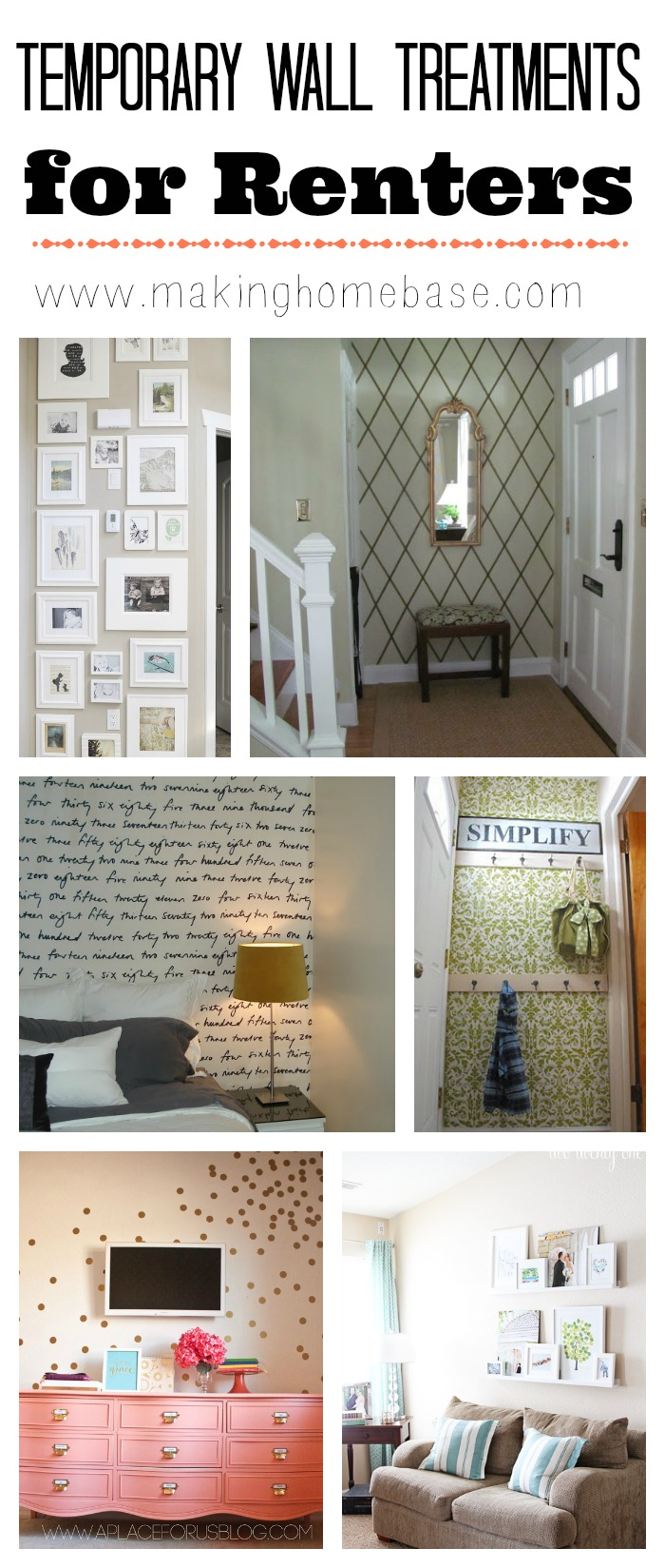 Temporary wall treatment ideas to spruce up your rental - Ideas for covering wallpaper ...