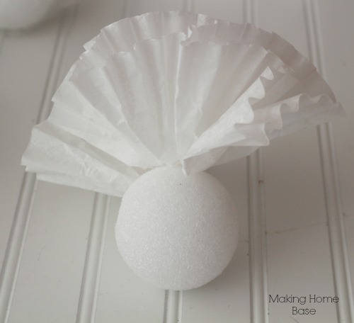 DIY Coffee Filter Topiary