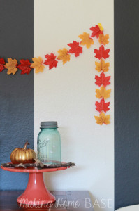 Fall Garland with Dollar Store Leaves