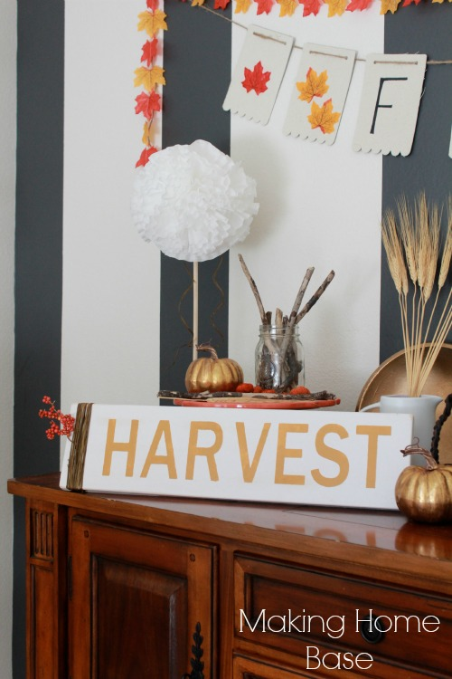 Fall Decorating A DIY Harvest Sign