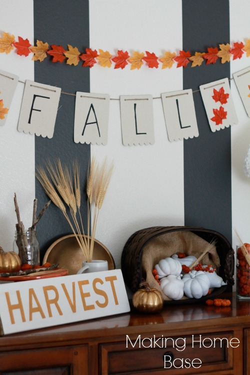Fall Vignette on the Buffet