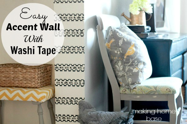 easy accent wall with washi tape