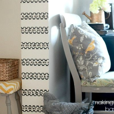Entryway Washi Tape Accent Wall