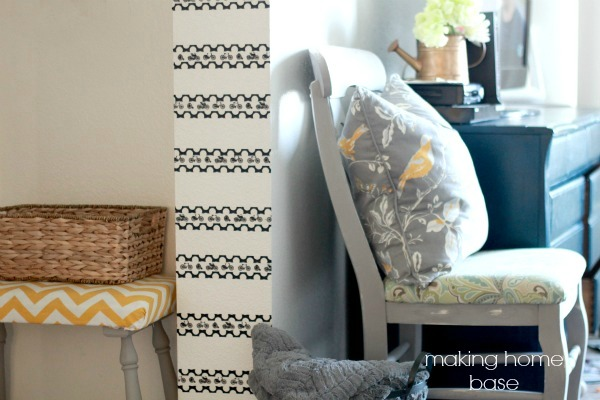easy washi tape accent wall