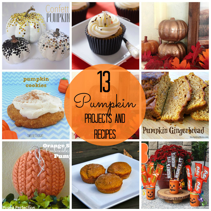 13 Pinterest Pleasing Pumpkin Recipes and Projects via createcraftlove.com #pumpkin #pumpkinrecipes #pumpkindecor #features