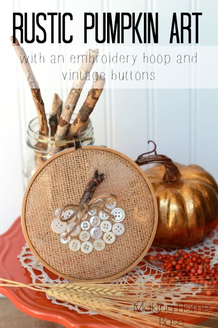 rustic pumpkin art
