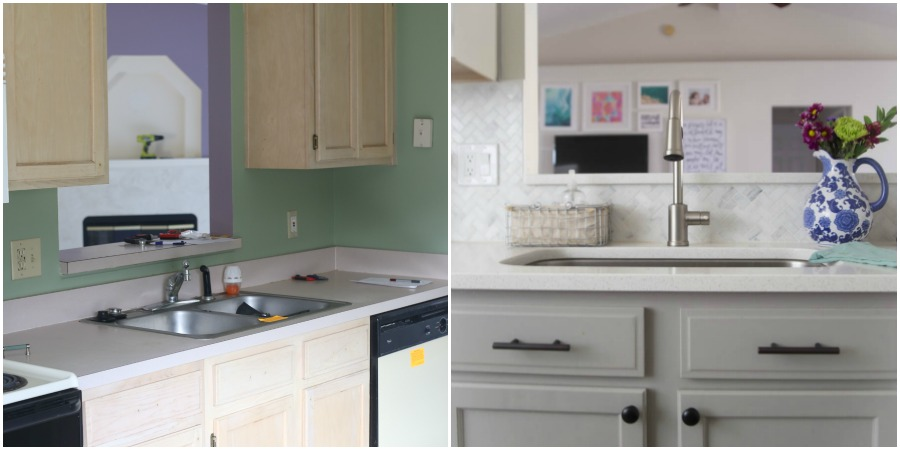 Before and After Kitchen Home Tour