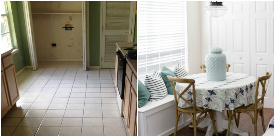 Breakfast Nook Before and After Home Tour