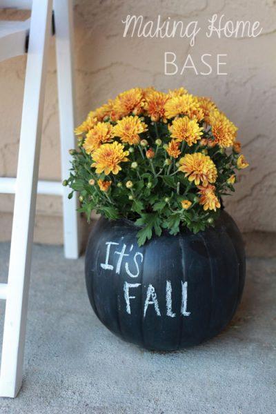 Chalkboard Pumpkin Planters