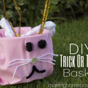 DIY Bunny Trick Or Treat Basket
