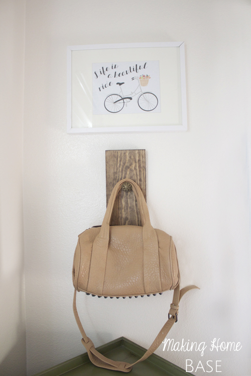 DIY Wall Hook A Place To Hang Your Bag
