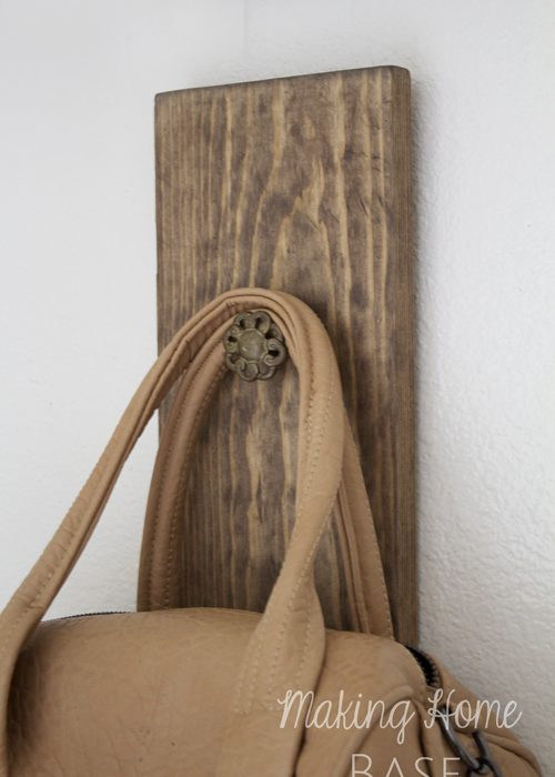 DIY Wall Hook: A Place To Hang Your Bag