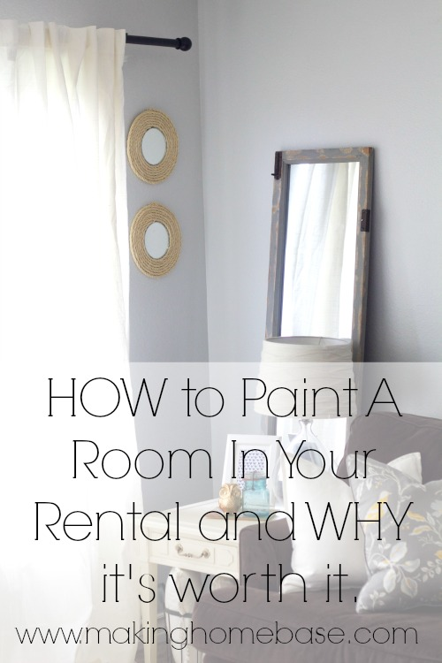 How to Paint A Room In Your Rental and WHY it's worth it.