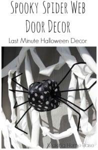 Spooky Spider Web Door Decor