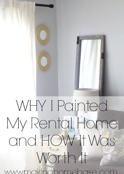 How to Paint A Room in Your Rental and Why We Decided To Paint