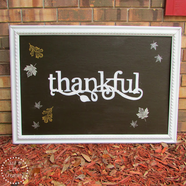 thankful typography painting