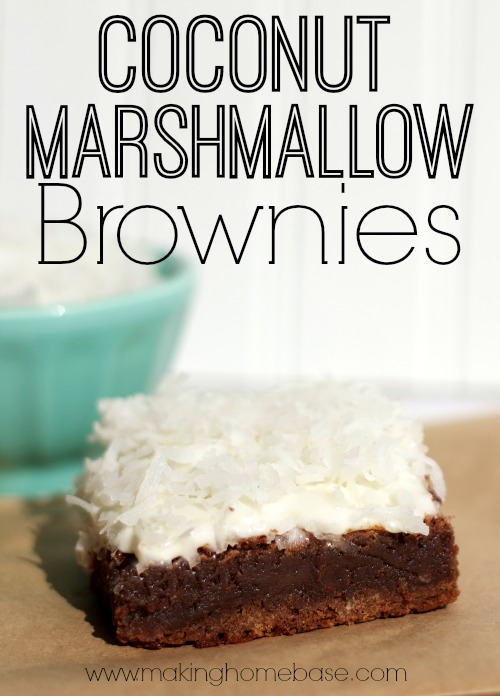 Coconut Marshmallow Brownies with secret ingredient #coffee