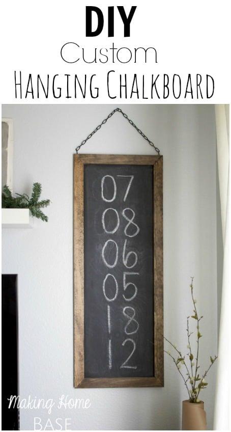 DIY Hanging Chalkboard