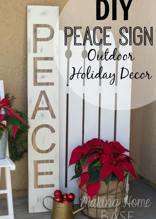 Peace Sign: An Outdoor Holiday Decor Tutorial