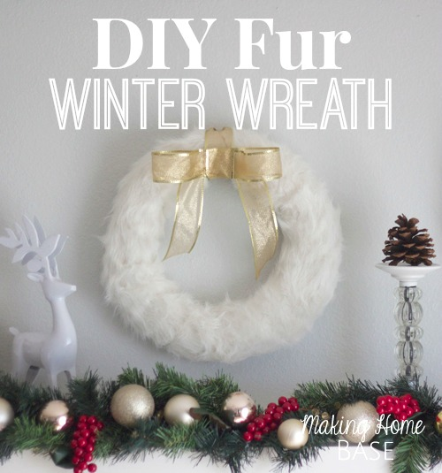 Faux Fur Winter Wreath