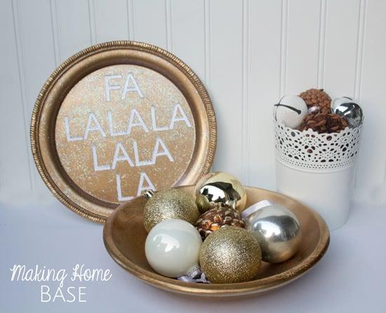 Gold Christmas Sign