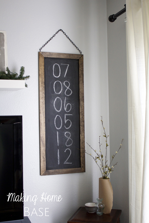 Hanging Chalkboard DIY Tutorial