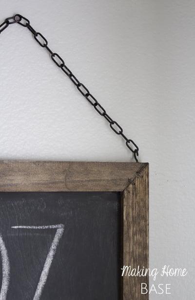 Hanging Chalkboard Tutorial DIY