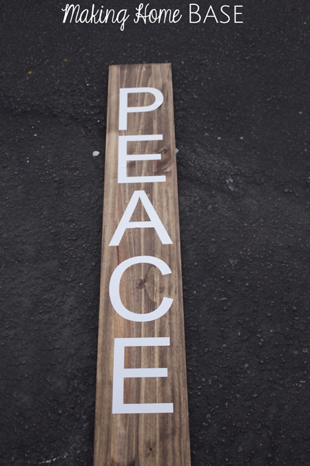 Outdoor Peace Sign