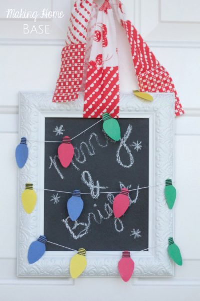 Paper Holiday Lights Door Hanging