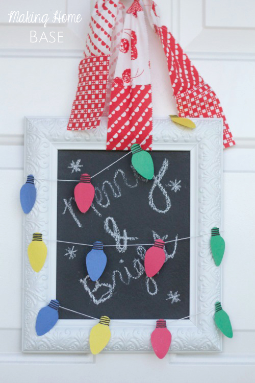 Paper Christmas Lights Garland Door Hanging