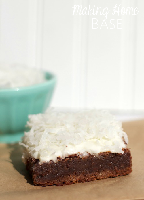 coconut marshmallow brownies