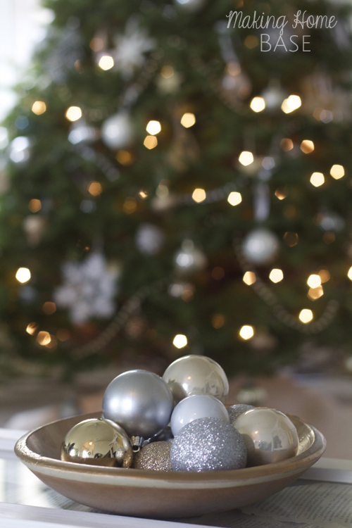 ornaments with bokeh