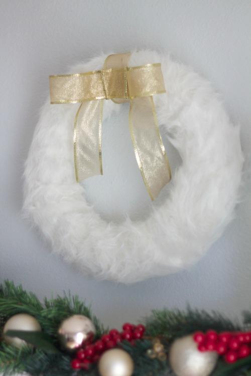 winter fur wreath
