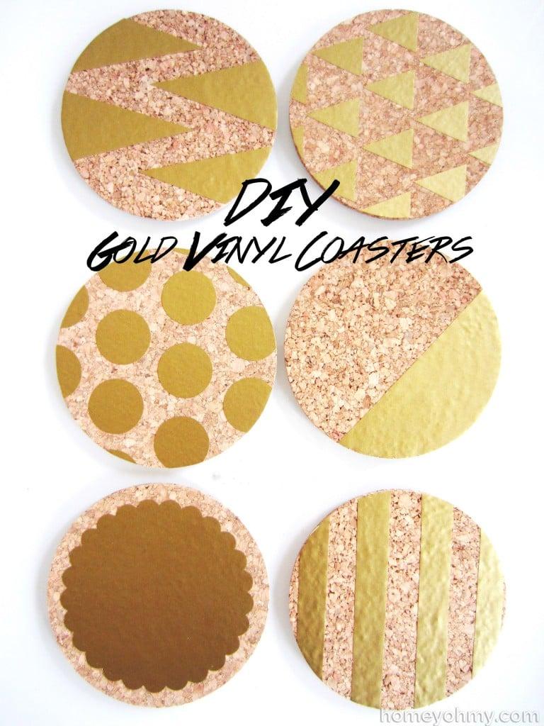 DIY-Gold-Vinyl-Coasters-768x1024