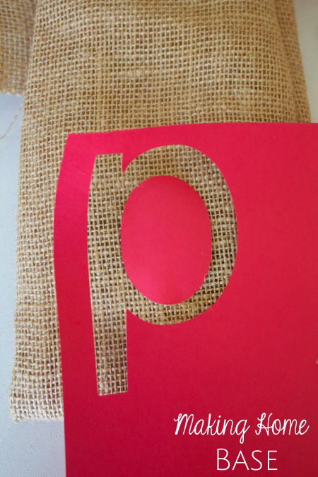 Stenciled Gift Bags