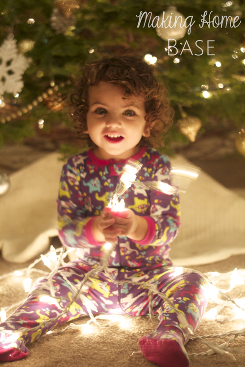 baby with lights