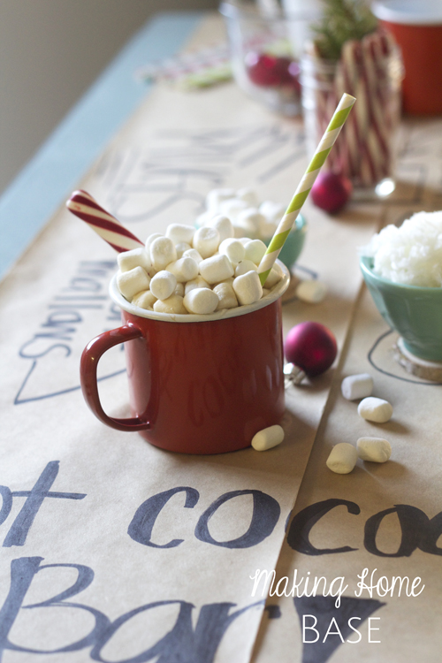 fun hot cocoa bar