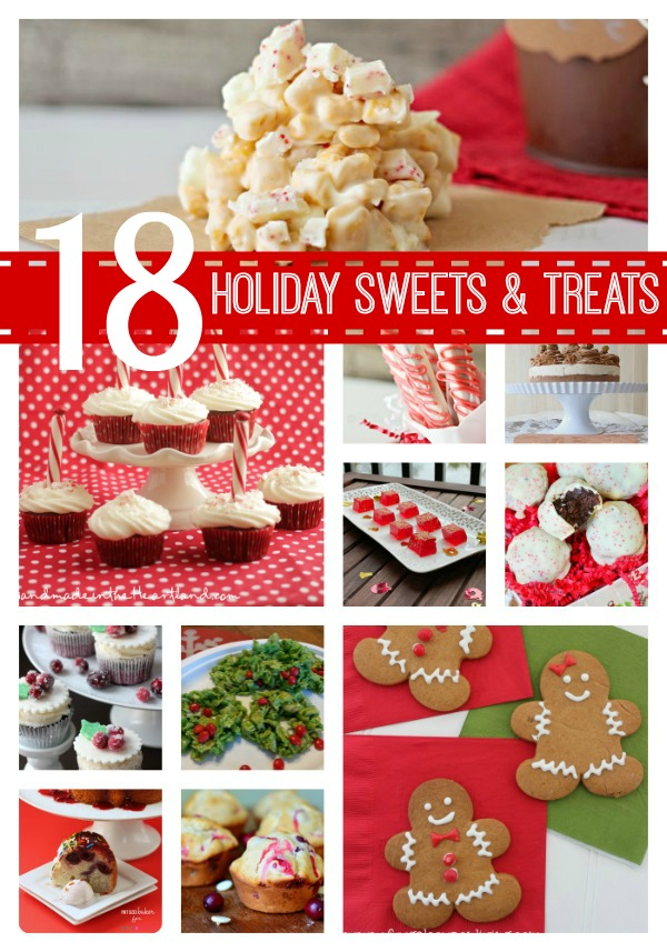 18 Holiday Sweets and Treats from createcraftlove.com #features #holiday #holidaybaking #recipes
