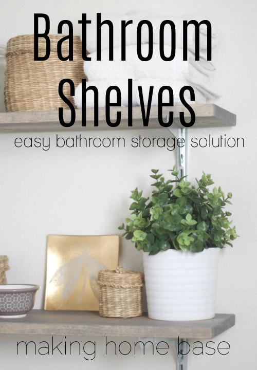 Easy Bathroom Shelving