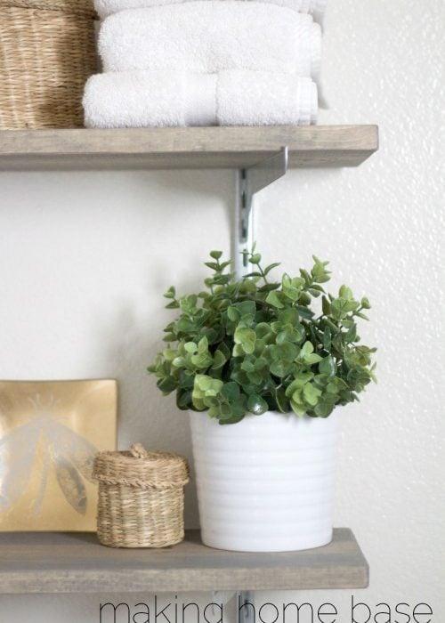 Shelves: Easy Bathroom Storage