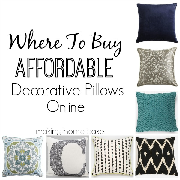 In Expensive Throw Pillows : Where To Buy Affordable Decorative Pillows - Making Home Base