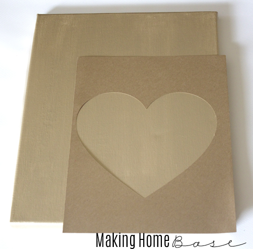 gold heart canvas