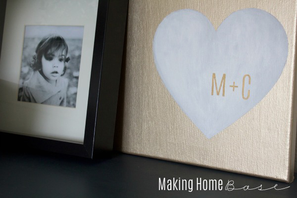 gold heart personalized art